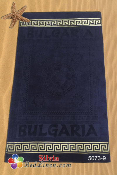 Плажна кърпа България - тъмно синя